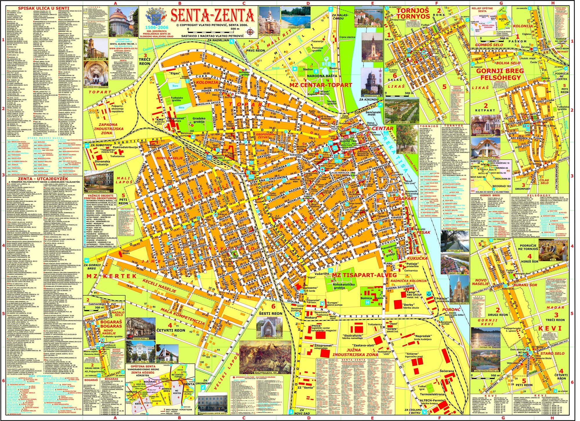 Mapa Sente Upoznajte Sentu Senta